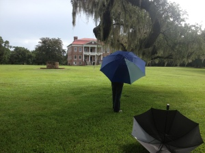 Drayton Hall SC_Ben with Umbrella and Umbrella without Me